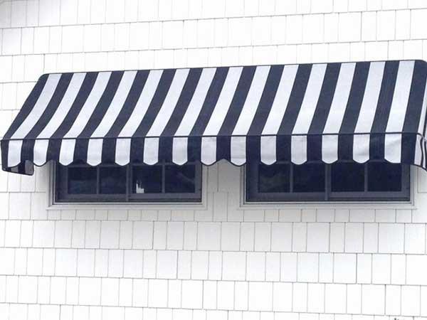 striped dolce awnings and vita stripes awning la seeing chic black white