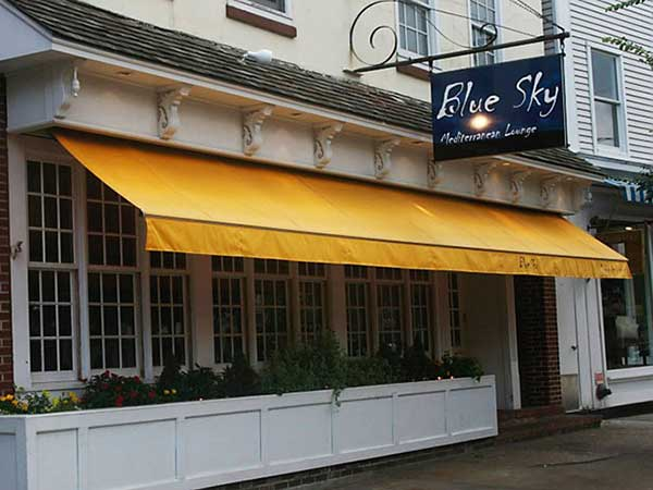 Attractive Restaurant Awning Blue Sky